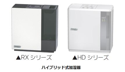 ダイニチ工業、快適機能を追加したハイブリッド式加湿器「RXシリーズ」と「HDシリーズ」8機種を発売