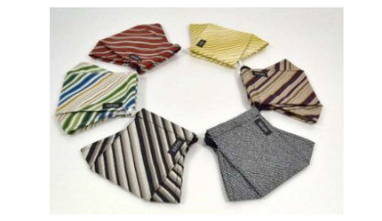 TMJ、北九州市の伝統織物「小倉織」を使用したオリジナルマスクを制作