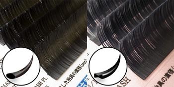 松風、扁平タイプのまつげエクステ用人工毛「フラットラッシュ」から「フラットレーザースリム」「スーパーソフト」を発売