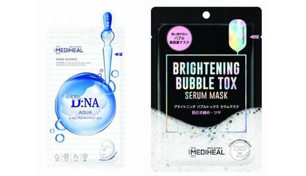 セキド、韓国コスメブランド「MEDIHEAL」からミルクタイプ美容液マスクと炭酸美容液マスクの2種類を発売