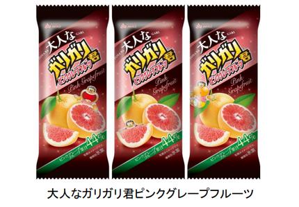 赤城乳業、果汁44%使用の「大人なガリガリ君ピンクグレープフルーツ」を発売