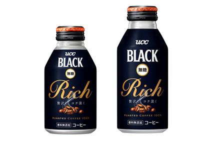 UCC上島珈琲、ブラック無糖缶コーヒー「UCC BLACK無糖 RICH リキャップ缶275g/375g」を発売