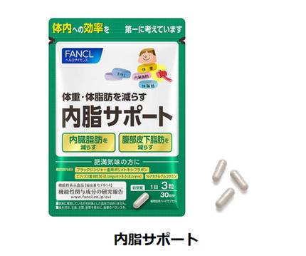 ファンケル、機能性表示食品「内脂サポート」をリニューアル発売