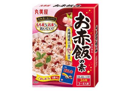 丸美屋食品、「ひじき五目釜めしの素」「きのこ釜めしの素」「中華おこわの素」「お赤飯の素」をリニューアル発売