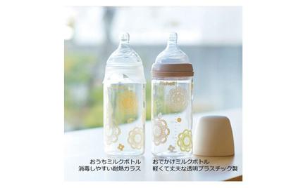 リッチェル、消毒しやすい耐熱ガラスの「おうちミルクボトル」・プラスチック製「おでかけミルクボトル」を発売