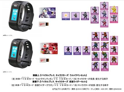 バンダイ、「バイタルブレス キャラクターズ ウルトラマンセット/仮面ライダーセット」を発売