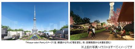 三井不動産、名古屋市の久屋大通公園に公園と店舗が一体になった「Hisaya-odori Park」をオープン