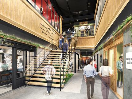 フジタ、食に特化した商業施設「JINGUMAE COMICHI(じんぐうまえ こみち)」をオープン
