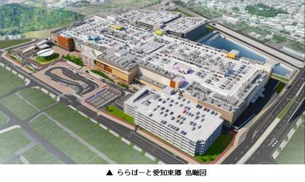 三井不動産、大型商業施設「三井ショッピングパーク ららぽーと愛知東郷」を開業